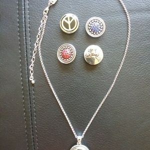 Hallmark Unique necklace with 5 different pendants